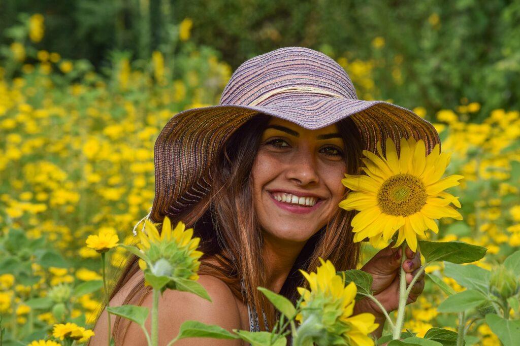 solsikkeblomst kvinne